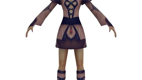 Game 3D Character - Female Taoist 01