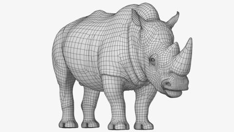 Rhino Low Poly