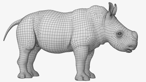 Rhino Baby Low Poly
