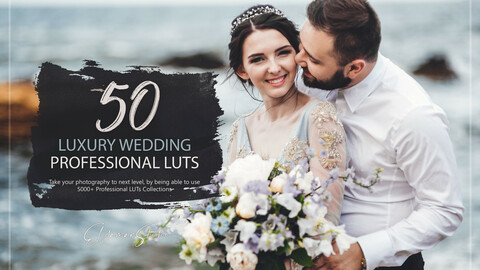 50 Luxury Wedding LUTs and Presets Pack
