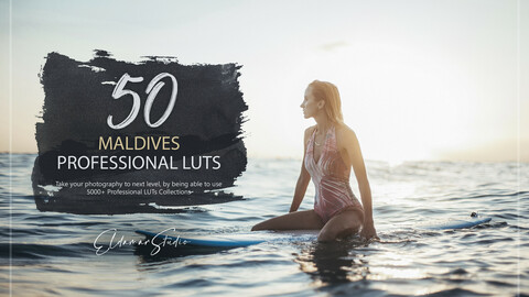 50 Maldives LUTs and Presets Pack