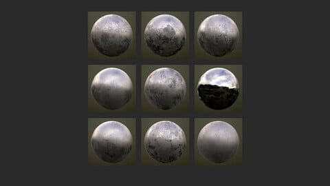 Pack - 10 Grunge Dirty Roughness Maps + Normal Maps