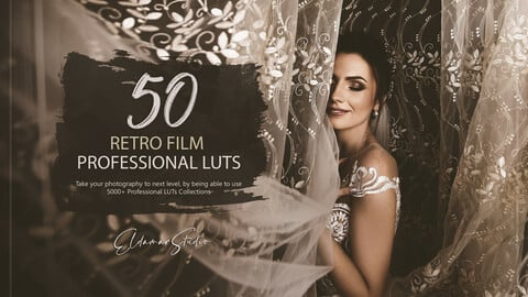 50 Retro Film LUTs and Presets Pack