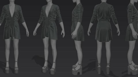 simple dress MD + Clo3D file