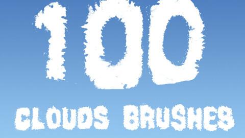 100 cloud brushes