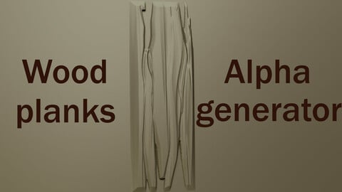 Stylized wood planks alpha generator