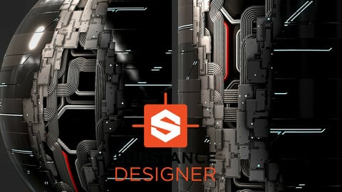 Futuristic Sci-Fi Wall Panels - Substance Designer