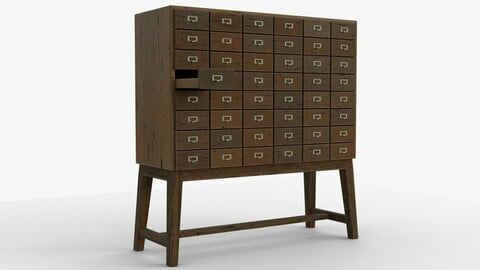 3D Apothecary cabinet