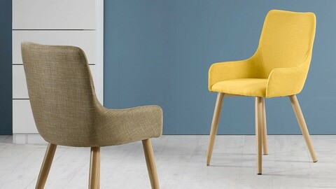 Fabric dining chair general type