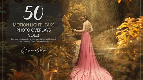 50 Motion Light Leaks Photo Overlays - Vol. 3