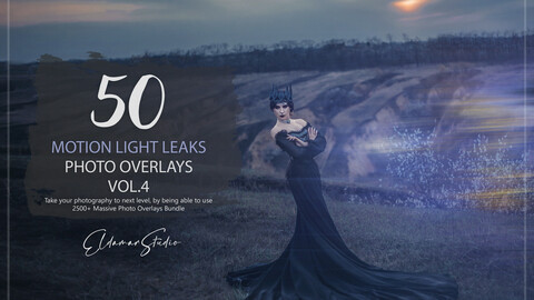 50 Motion Light Leaks Photo Overlays - Vol. 4