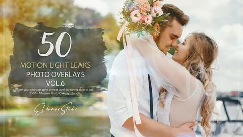 50 Motion Light Leaks Photo Overlays - Vol. 6