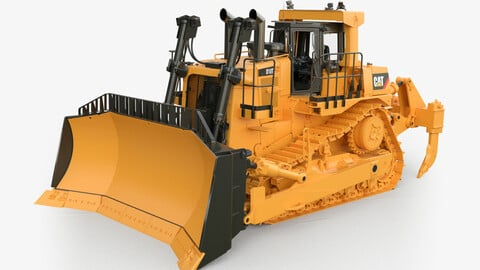 CAT D10 dozer - Rigged