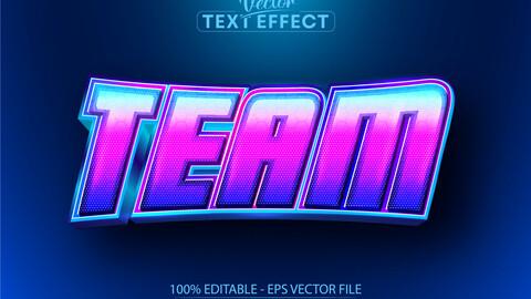 Team text, sport style editable text effect