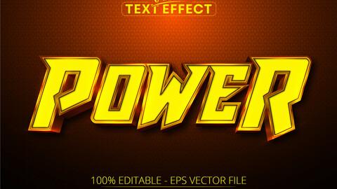 Editable text effect – power text, cartoon text style