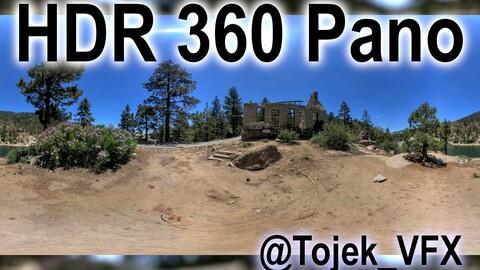 HDR 360 Panorama - Big Bear Lake CA - 33 Dam Keepers House