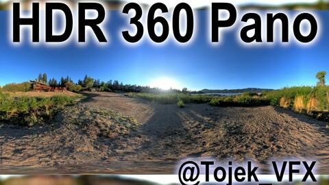 HDR 360 Panorama - Big Bear Lake CA - 98 Cabin resort Big Bear Frontier