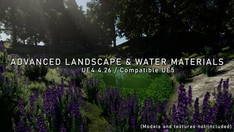 [UE4/UE5] Advanced Landscape & Water Materials