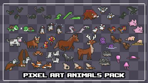 Pixel Art Animals Pack