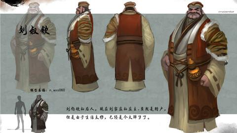 Low poly 3D characters-Liu Shuqin
