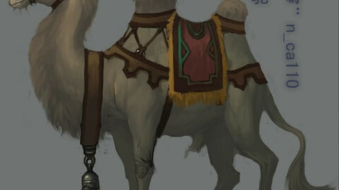 Low poly 3D characters-Camel 02