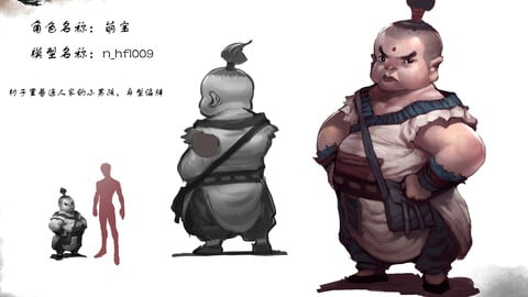 Low poly 3D characters-Miu Bao