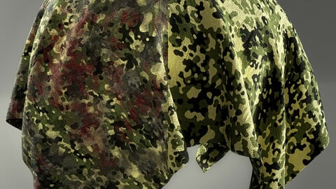 PBR - CAMOUFLAGE WAR FABRIC PACK 03 - 4K MATERIALS