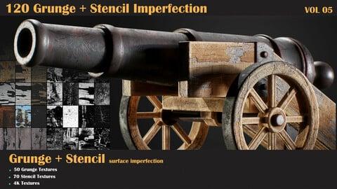 120 Grunge + Stencil Imperfection-VOL 05