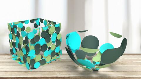Retro smart material. Acrylic dots
