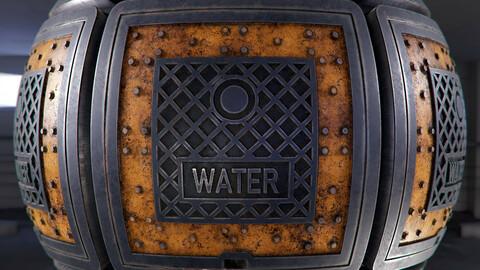PBR - WATER METER CAP, DRAIN, COVER - 4K MATERIAL