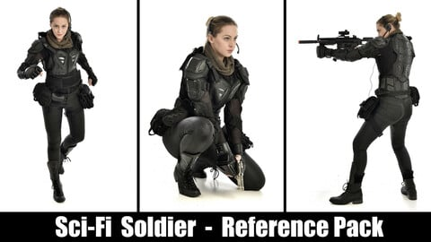 x300 Sci-fi Soldier     -  Pose Reference Pack
