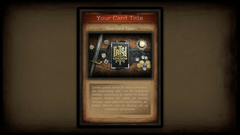 Fantasy Card Template (with illustration)