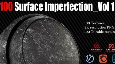 100 Surface Imperfection - 4k Tileable Textures_Vol 1