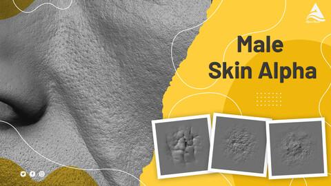 Male Face Skin Alphas