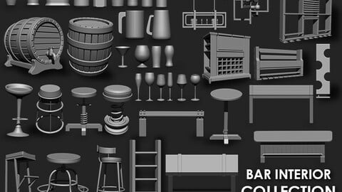 Bar Interior Collection Imm Brush Pack (46 in one)