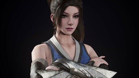 Assassin Girl Game model.