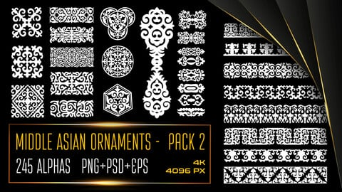 ALPHAS - 2nd PACK OF MIDDLE ASIAN ORNAMENTS AND PATTERNS