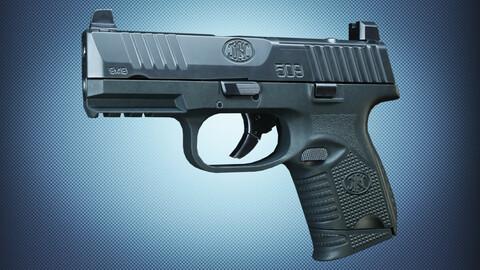 FN 509 Compact MRD BLK Low-poly 3D model