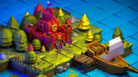 Low Poly 3d Castle