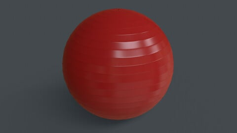 PBR Yoga Ball - Red