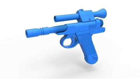 1:6 Cosplay 3D printable Blaster Pistol of Cara Dune from The Mandalorian TV series