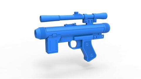 1:6 Cosplay 3D printable Death trooper Light Repeating Blaster pistol SE-14R from  Star Wars