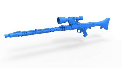 1:6 Cosplay 3D printable Stormtrooper Heavy Blaster Rifle DLT-19X