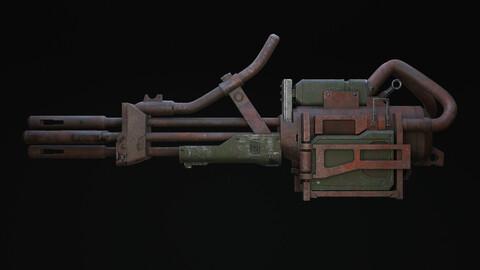 Bazrosh Rifle Scifi Game Ready