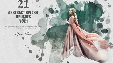 21 Abstract Splash Brushes - Vol. 1