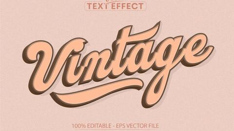 Vintage text, minimalistic retro style editable text effect