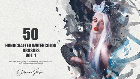 50 Handcrafted Watercolor Brushes - Vol. 1