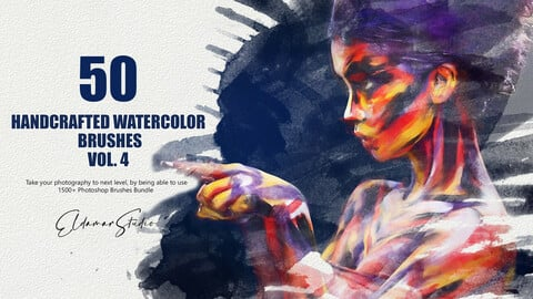 50 Handcrafted Watercolor Brushes - Vol. 4
