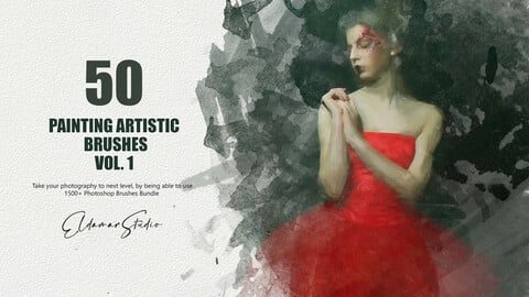 50 Painting Artistic Brushes - Vol. 1