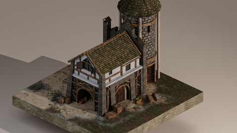 Medieval Warehouse 3D Model